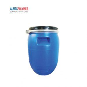 بشکه پلاستیکی ۳۰ لیتری دهانه باز با بست فلزی