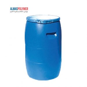 بشکه پلاستیکی 60 لیتری دهانه باز با بست فلزی