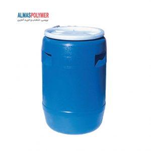بشکه پلاستیکی 110 لیتری دهانه باز با بست پلاستیکی