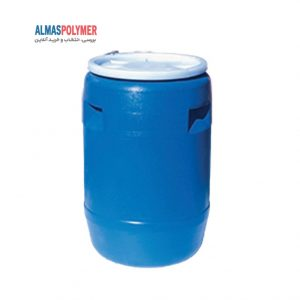 بشکه پلاستیکی ۱۱۰ لیتری دهانه باز با بست پلاستیکی