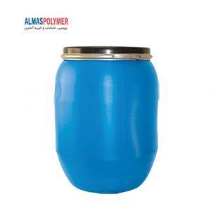 بشکه ۱۶۰ لیتری دهانه باز با رینگ فلزی