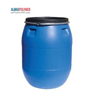 بشکه پلاستیکی ۲۲۰ لیتری دهانه باز با بست فلزی