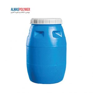 بشکه پلاستیکی ۲۲۰ لیتری دهانه باز بادرب پیچی